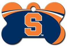 Personalized Laser Engraved 15 x 1 inch Syracuse Orange Bone Shape Pet ID Tag  Free Tag Silencer * See this great product.