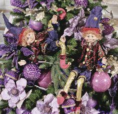 ZEIGEN Elves Bohemian Christmas, Purple Christmas, Christmas Elf, Xmas, Christmas Ornaments, Christmas Stuff, Christmas Ideas, Elf Christmas Decorations, Holiday Decor