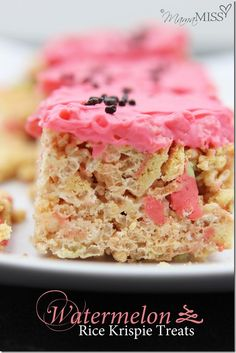 sweets: Watermelon Rice Krispie Treats