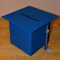 DIY Grad Cap Card Box *use a round hat box instead!