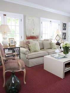 Sandy Springs Living Room - Claire Watkins Interior Design, LLC