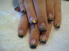 So want to do my nails like this for Mardi Gras