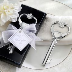 """Absolutely LOVE THIS wedding favor! I love everything skeleton key- related, think I may have found my wedding favor :)... """"Key to my Heart"""" Bottle Opener Wedding Favor 