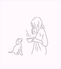 girl and dog drawing Aesthetic Drawing, Aesthetic Art, Inspiration Art, Art Inspo, Art And Illustration, Illustrations, Art Minimaliste, Minimal Art, Art Du Croquis