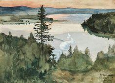 Hugo Simberg June 1873 - 12 July was a Finnish symbolist painter and graphic artist. Scandinavian Paintings, Scandinavian Art, Klimt, Russian Painting, Art For Art Sake, Vintage Artwork, Watercolor Landscape, Art Pieces, Illustration Art