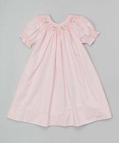 Look at this #zulilyfind! Pink Floral Smocked Bishop Dress - Infant, Toddler & Girls #zulilyfinds