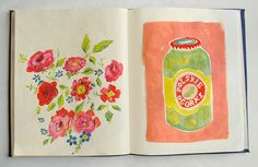 I wish my sketchbooks looked like this. Danielle Kroll.