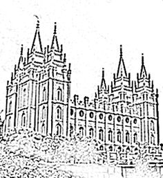 LDS Temple Coloring Pages LDS Nursery Color Pages September