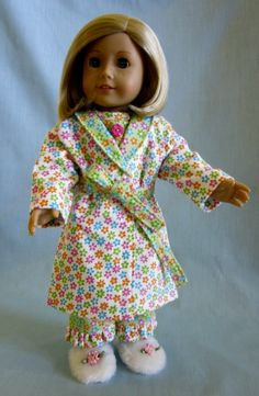 American Girl Doll Clothes   Flannel Pajama by SewMyGoodnessShop, $24.00