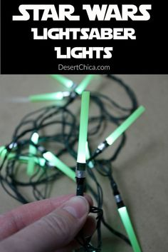 Make your own Light Saber Light set for a Star Wars themed party or Star Wars themed bedroom.