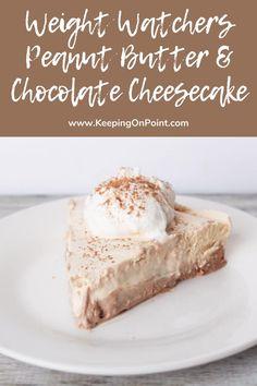 Chocolate Peanut Butter Cheesecake, Peanut Butter Desserts, Ww Desserts, Healthy Desserts, Delicious Desserts, Healthy Recipes, Dessert Recipes, Healthy Foods, Protein Desserts