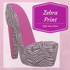 1000 images about zebra print high heel chair on