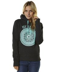 HURLEY VINTAGE POP WOMENS FLEECE - DARK HEATHER GREY on http://www.surfstitch.com