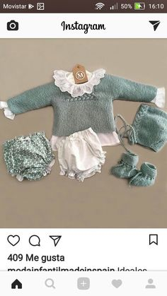New crochet dress baby newborns Ideas Baby Knitting Patterns, Knitting For Kids, Baby Patterns, Crochet Baby Jacket, Crochet Baby Beanie, Crochet Baby Booties, Baby Outfits, Kids Outfits, Spanish Baby Clothes