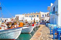 Port of Naoussa Paros Greek Islands