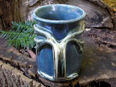 Tree mug for the nature lover, 17 oz. capacity, tea mug , coffee mug, handmade mug