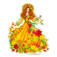 Резултат с изображение за девушка осень Adult Crafts, Diy And Crafts, Crafts For Kids, Afternoon Prayer, Fall Clip Art, Fairy Princesses, Autumn Activities, Watercolor Techniques, Cute Drawings