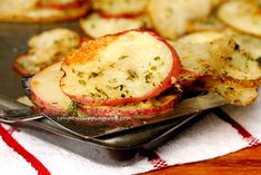 Baked Herbs & Parmesan Potato Slices | Coupon Clipping Cook