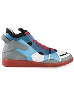 Maison Martin Margiela Panelled High Top Sneakers - Hirshleifers - Farfetch.com