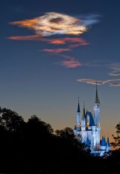 Space Shuttle Discovery Soars Over Cinderella Castle at Walt Disney World