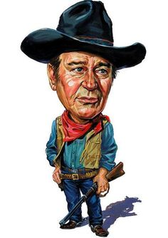 Celebrity Caricatures Pictures : John Wayne