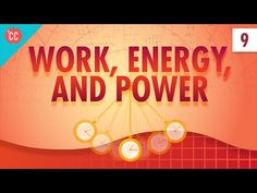 """Work, Energy, and Power: Crash Course Physics #9 When you hear the word, """"Work,"""" what is the first thing you think of? Maybe sitting at a…"""