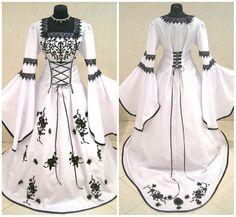 Robe de mariée médiévale robe 20-22-24 XL-2XL-3XL gothique costume sorcière larp lort tudor renaissance Noël fantaisie victorienne vampire wicca