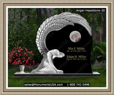 Monuments Headstones For Graveyards In Westbury, NY Headstones For Graves, Cemetery Headstones, Tombstone Pictures, Blue Pearl Granite, Tombstone Designs, Concrete Statues, Cemetery Monuments, Cemetery Angels, Funeral Urns