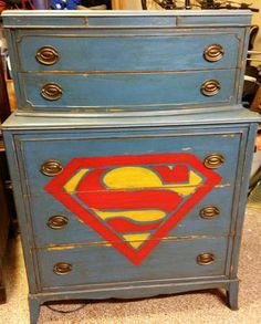 Superman chest of drawers