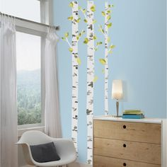 Create a relaxing mood in your room of choice with these Birch Trees Giant Wall Decals. Easy to remove and reposition to your liking, these wall stickers are perfect for any study room, office or bedr