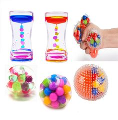Slovery Stress Balls For Different DNA Stress Liquid Motion Bubbler Timer- Stress Relief Fidget Toys For Anxiety Kids Adults With Autism ADHD & Figet Toys, Baby Toys, Diy Mask, Diy Face Mask, Tangle Fidget Toy, Best Baby Doll, Pretty Slime, Kids Gadgets, Cool Fidget Toys