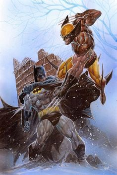 Batman vs Wolverine Art by Ardian Syaf