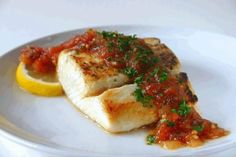 Mexican Baked Halibut