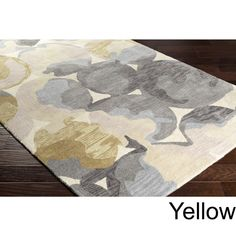 """Hand-Tufted Zulia Area Rug - Overstock - 14274144 - 5' x 7'6"""" - Aqua Jaipur, Dining Table Price, Oriental, Yellow Pattern, Hand Tufted Rugs, Indoor Rugs, Accent Rugs, Accent Furniture, Online Home Decor Stores"""