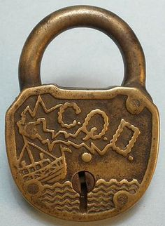 Padlock that commemorates the Titanic sinking..just don't bring it on another ship... It might get you an accident....