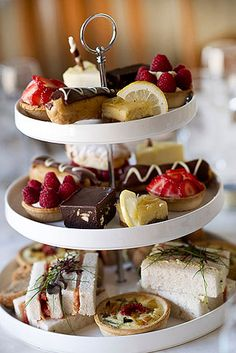 trendy ideas for wedding food catering mini desserts Afternoon Tea Wedding Reception, Wedding Reception Food, Afternoon Tea Parties, Wedding Catering, Party Catering, Catering Ideas, Wedding Ideas, Wedding Cake, High Tea Wedding