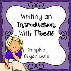 strategies for formulating a thesis statement