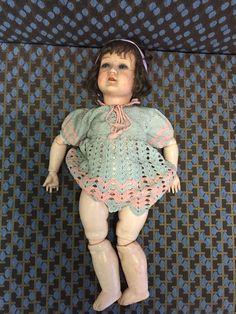 Antique Turtle Mark Doll, Schildkrot Puppe