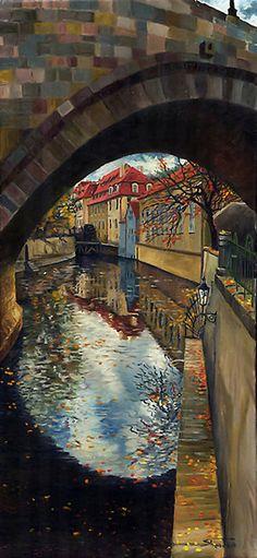 Prague Chertovka 02  by Yuriy Shevchuk.