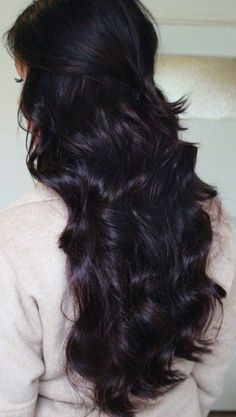 Dark plum brown hair