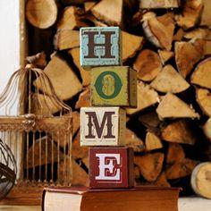 Anusha HOME wooden blocks