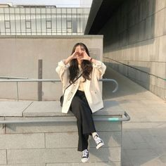 winter outfits korean korean fashion aesthetic outfits soft kfashion ulzzang girl casual clothes grunge minimalistic cute kawaii comfy formal everyday street spring summer autumn winter g e o r g i a n a : c l o t h e s Ulzzang Girl Fashion, Korean Girl Fashion, Korean Fashion Trends, Korean Street Fashion, Korea Fashion, Casual Asian Fashion, Korean Fashion Summer Street Styles, Spring Outfits For Teen Girls, Spring Work Outfits