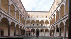 Palazzo Riario, or 'della Cancelleria', Rome, Italy; built between 1485-1513; the courtyard attributed to Donato Bramante.