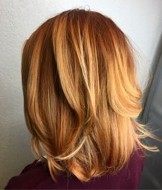 Red/copper balayage