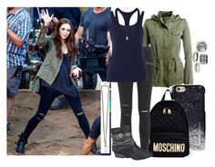 """""""Wanda Maximoff (Civil War) // Back to School"""" by misscreepyashell ❤ liked on Polyvore featuring Aéropostale, Marc by Marc Jacobs, Givenchy, Moschino, Paige Denim, Bailey 44, Alexander McQueen and maurices"""