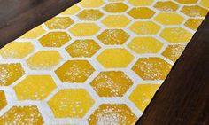 Honey Bee Centerpieces   DIY Honeycomb Table Runner