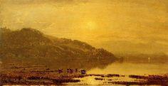 Mount Merino, huile sur toile de Sanford Robinson Gifford (1823-1880, United States)