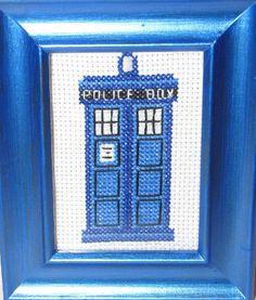 Doctor Who TARDIS Cross Stitch Pattern by KyotiJess on Etsy, $5.50