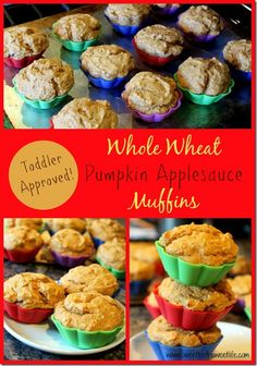 Whole Wheat Pumpkin Applesauce Muffins {Toddler Approved!} + EB Eggs Chief Egg Officer Contest & Giveaway