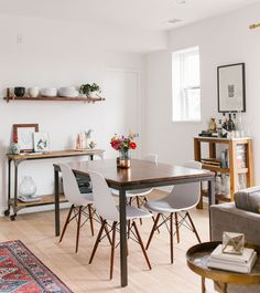 GWS Home Tour   Mid Century Modern + Boho Inspired Dining Room Mid Century
